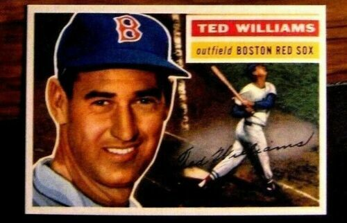 1956 TOPPS #5 TED WILLIAMS RED SOX*****REPRINT*****NM-MT  A BEAUTY