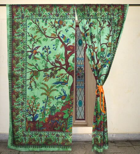 Antique Art Deco Drapes Gypsy Decor Panels Boho Door Valances Throw Pelmets Boho