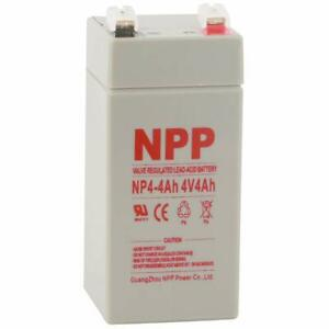 Npp 4v 4 Ah Rechargeable Sealed Lead Acid Battery Replace