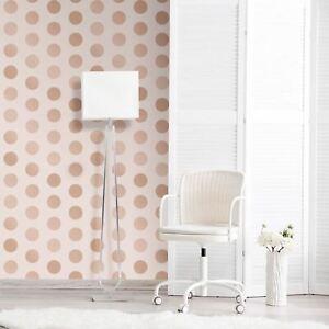 Grand-Pois-a-Pois-World-Of-Wallpaper-A617-Cao-5-Dore-Rose-Rose-Metallise
