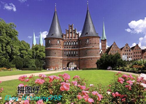 Ravensburger Germany Lubeck Castle Garden 1000 Adult Decompression Puzzles Toys