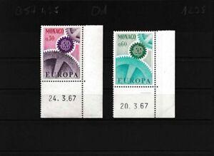 Monaco-870-871-kompl-Ausg-postfrisch-Eckrandstuecke-mit-Druckdatum