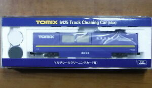 TOMIX N gauge multi-rail cleaning car blue 6425 model railroad supplies