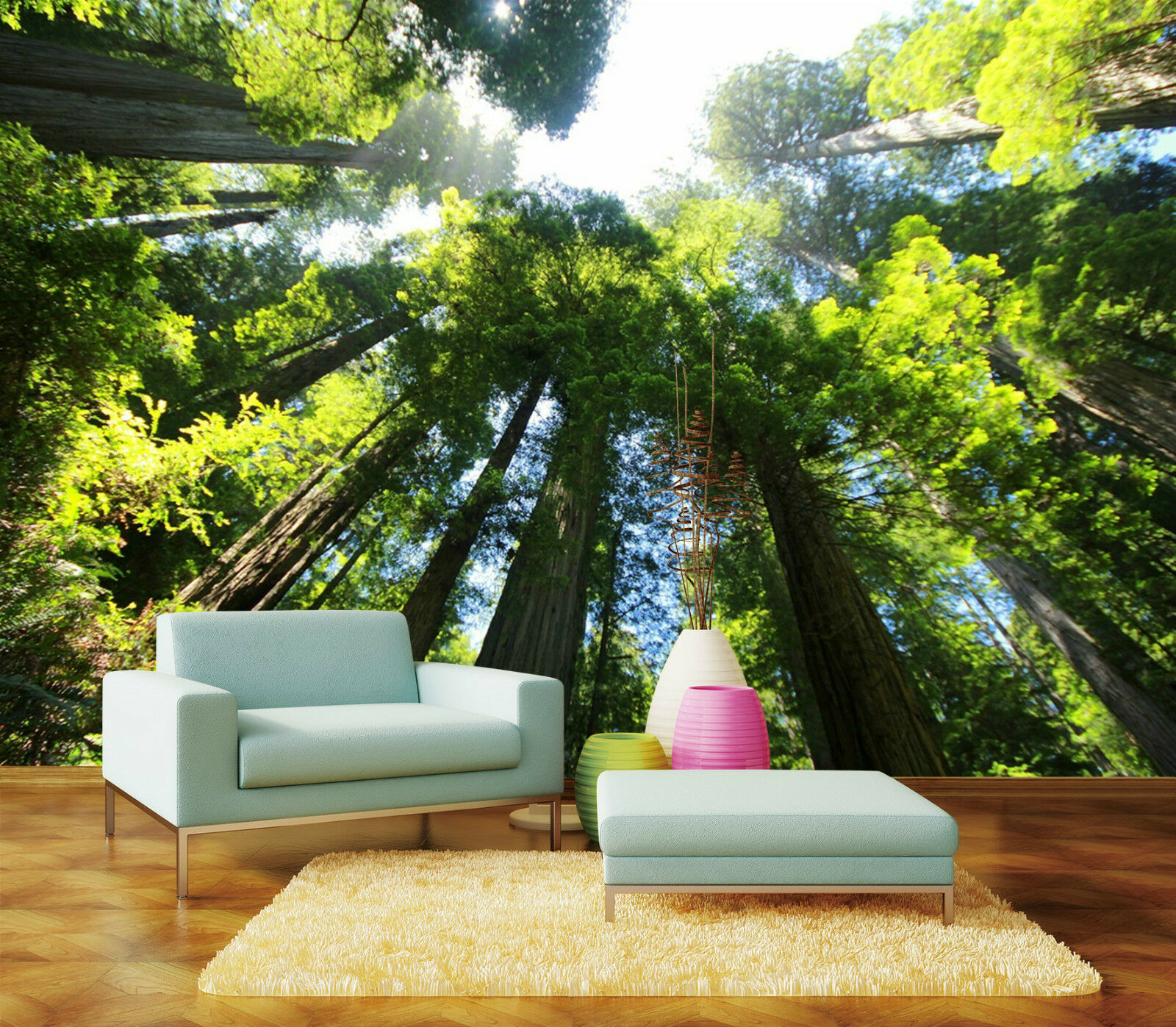3D High Trees Forest Nature Wall Paper Wall Print Decal Wall AJ WALLPAPER CA