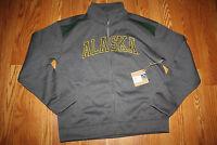 Mens Campus Drive 1/4 Zip Alaska Seawolves Gray Full Zip Fleece Jacket Sz M