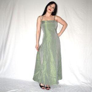 zart grünes satin cocktailkleid 42 glänzendes partykleid abendkleid ballkleid  ebay
