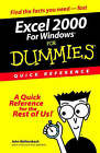 EXCEL 2000 for Windows for Dummies Quick Reference by John Walkenbach (Paperback, 1999)