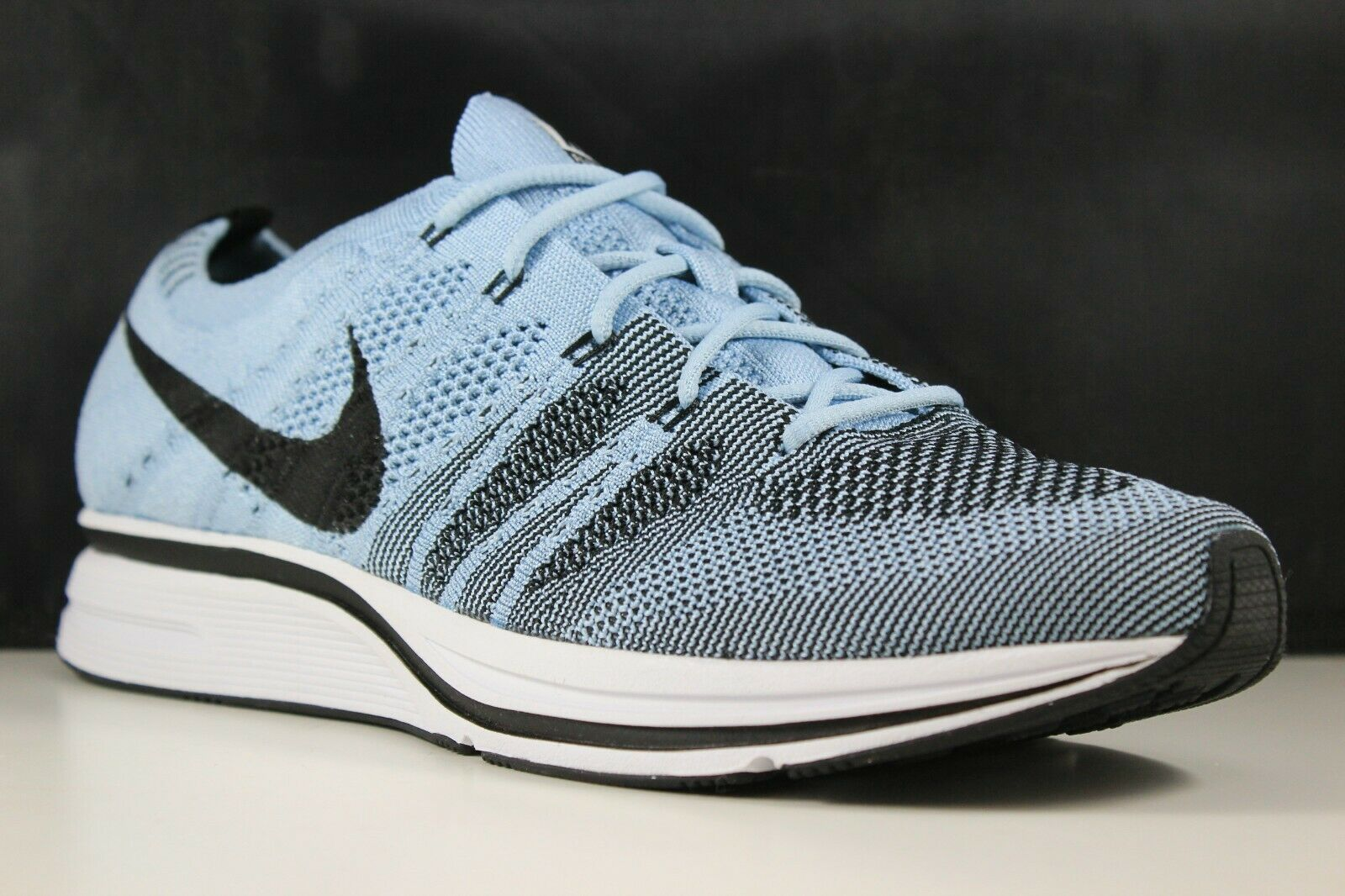 Nike Flyknit Trainer Size 12 Mens Cirrus bluee Black-White AH8396-400
