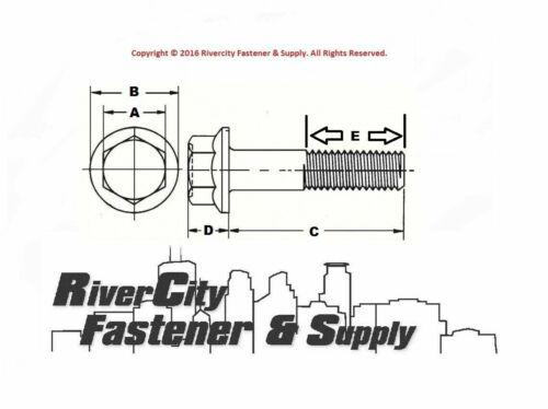 5//8-11x1-1//2 Grade 8 Hex Head Flange 25 Frame bolt Cap Screws 5//8x11x1-1//2