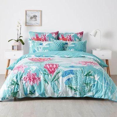 NEW Ocean Flora Quilt Cover Set