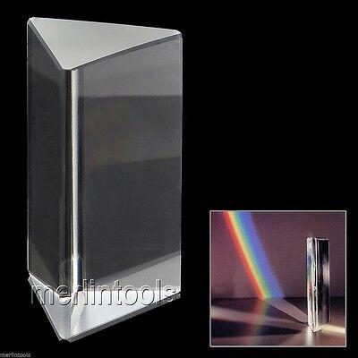 "2"" Optical Glass Triple Triangular Prism Physics Teaching Light Spectrum 5cm"