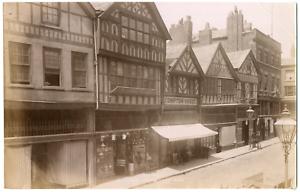 Angleterre-England-Chester-rue-commercante-Vintage-albumen-print-Tirag