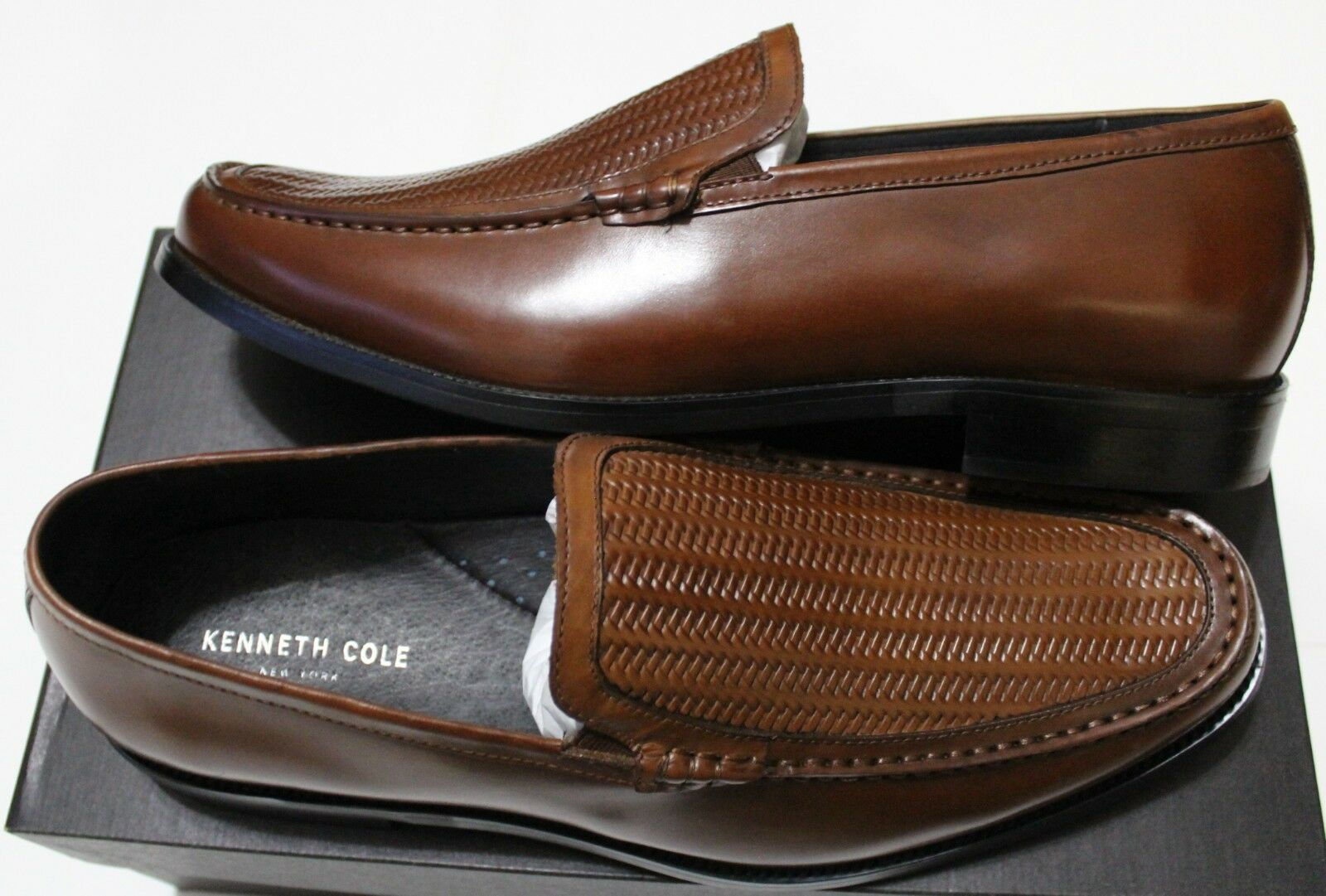 160 160 160 Kenneth Cole New York Filter It Cognac Embossed Loafer 542227
