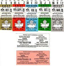 Maple Leaf Gardens 1989/90 Unused Toronto Maple Leafs Ticket Set + Standing Room