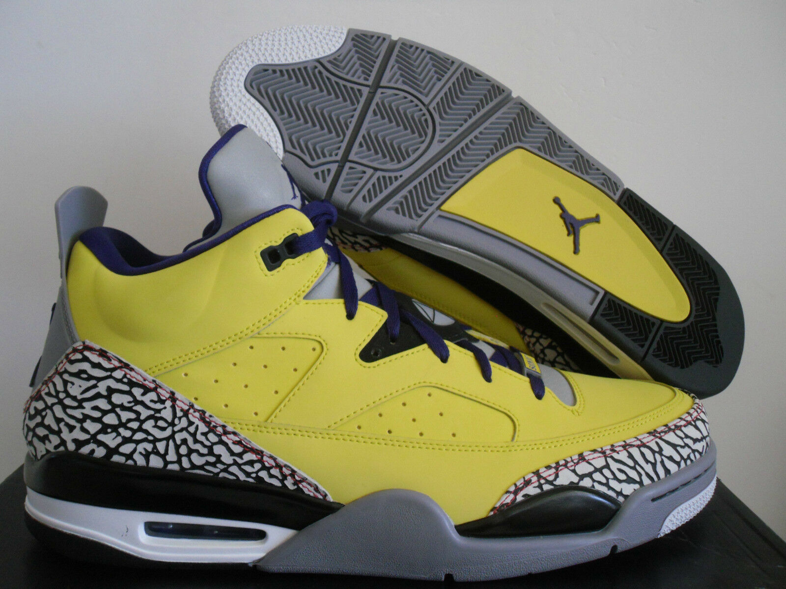 sneakers for cheap b751a 4c61e ... coupon nike air jordan son of low tour jaune grape cement 10 gris sz 10  31582