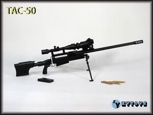 ZY-TOYS-1-6-Scale-US-TAC-50-Sniper-Rifle-Black-Fit-for-12-action-figure