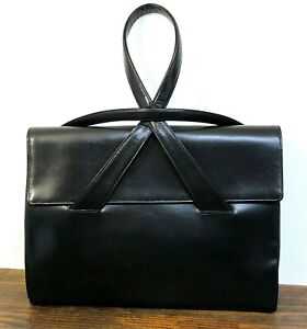 Handbag Purse Real France Black Leather Pocketbook Frederickamp; Nelson Kelly Bag trdsQCxhB