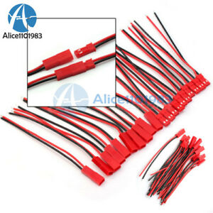 5/10/20Pairs JST Connector Plug Cable Line Male&Female for RC Lipo Battery 100mm