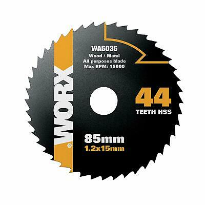 HSS 60T CIRCULAR SAW BLADE 85MM 10MM PLASTIC METAL REPLACES WORX WORXSAW WA5036