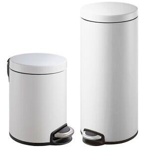 Eko 5l 30l Serene Step Bin Can Kitchen Trash Waste Can Set Of 2 S S