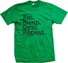Eat Sleep Gym Repeat Workout Fitness Meathead Mens T-shirt