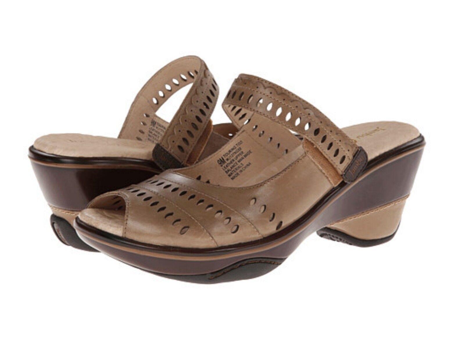 New Damens Braun Jambu Touring Too Wedge  Heel Peep Toe Sandale Schuhe 7.5 8 9 10 11