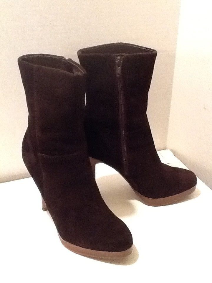 STEVE MADDEN WOMEN'S BROWN SUEDE ANKLE BOOTS SIZE 7 MEDIUM