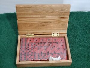 Dominoes Game Set Wood Box Case Scorpion Graphic Toys Strategy Numbers Matching