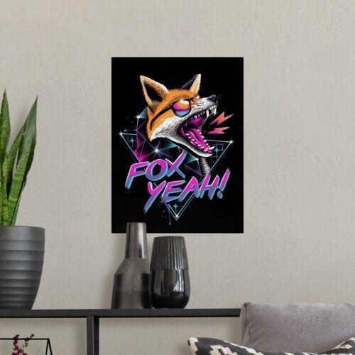 Fox Yeah Poster Art Print Home Decor