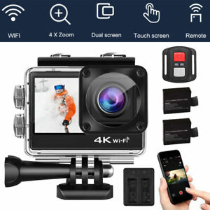 4K Dual Screen HD 1080P Action Camera Sports Camcorder WIFI Remote Waterproof DV