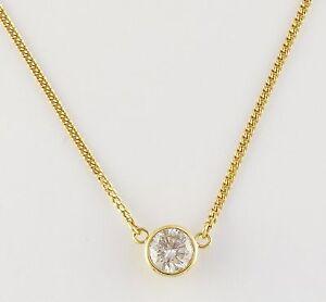 K Gold  Ct Diamond Solitaire Necklace