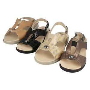 91babbb74 Image is loading Ladies-Leather-Open-Toe-Easy-B-Wide-Fit-