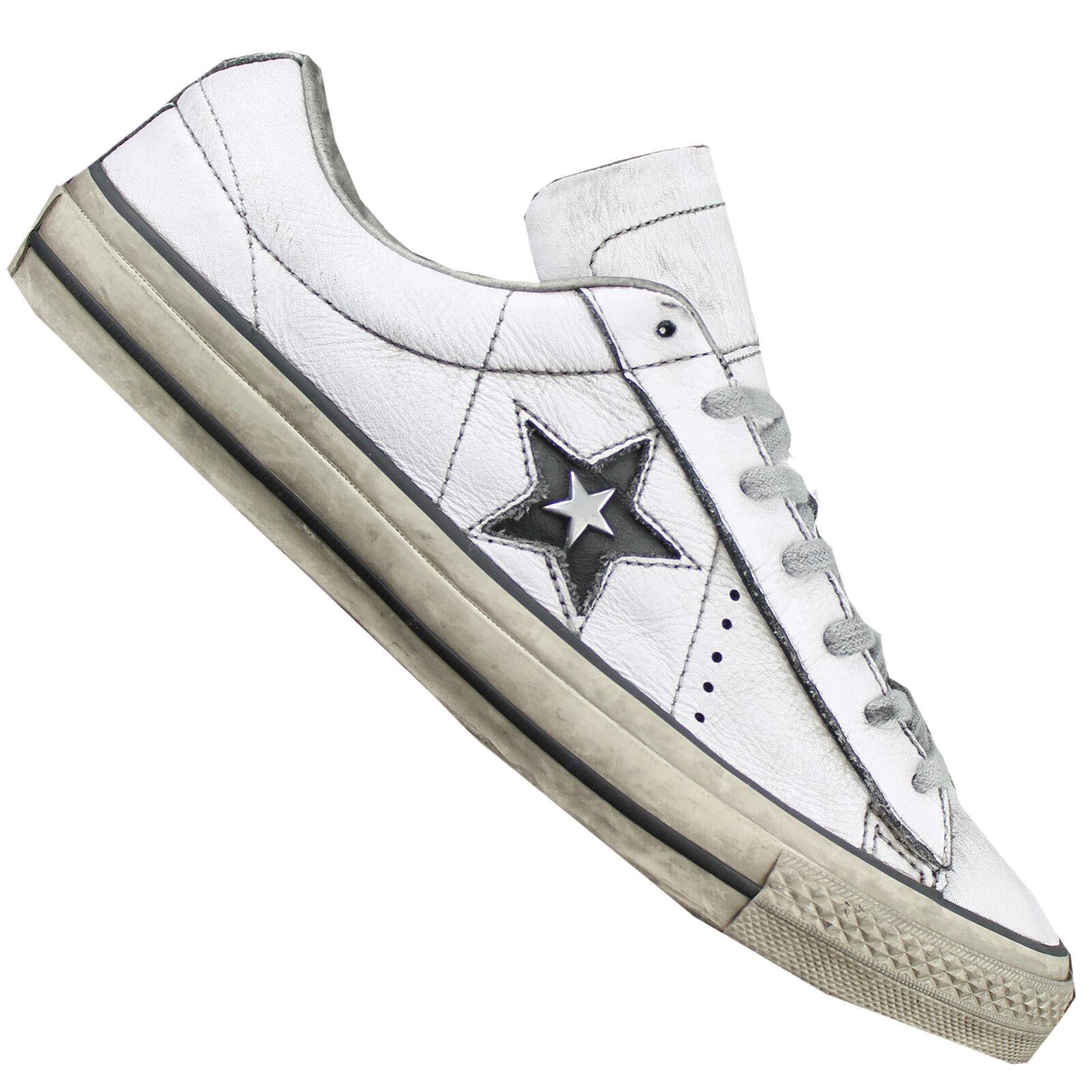 Converse One Star OX Damen Sneaker Turnschuhe Schuhe Distressed Distressed Distressed Leder NEU 61a0ff
