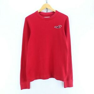 Vintage-Hollister-Women-039-s-T-Shirt-Red-Size-XL-Long-Sleeve-Cotton-Top-EF5923