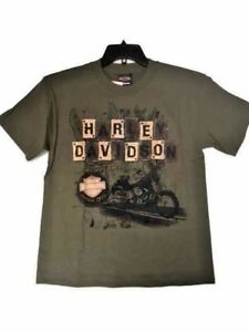 6262fb3159 Details about Harley-davidson Boy's short sleeve Military Green