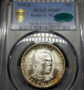 1949-S-MS67-CAC-Booker-T-Washington-Silver-Commemorative-50c-PCGS-Graded