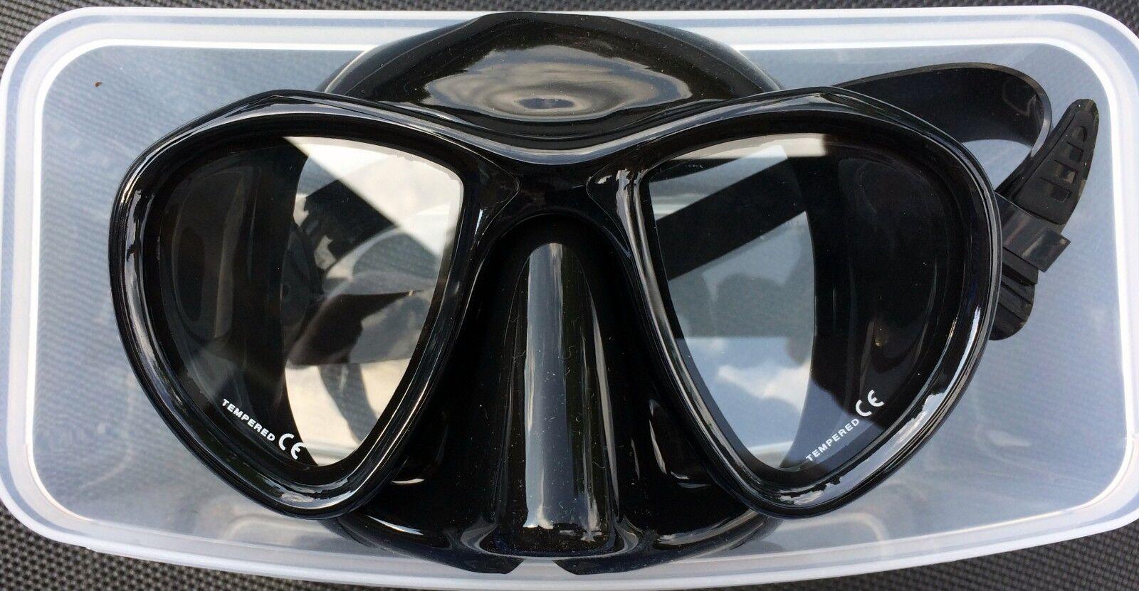 Tauchmaske Taucherbrille 2-Glas  RUBY    schwarz-schwarz POLARIS 41cf21