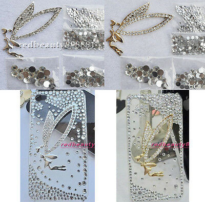 3D Alloy Bling Crystal Angel Fairy DIY cell Phone iPhone 4S Case - Deco Den Kit