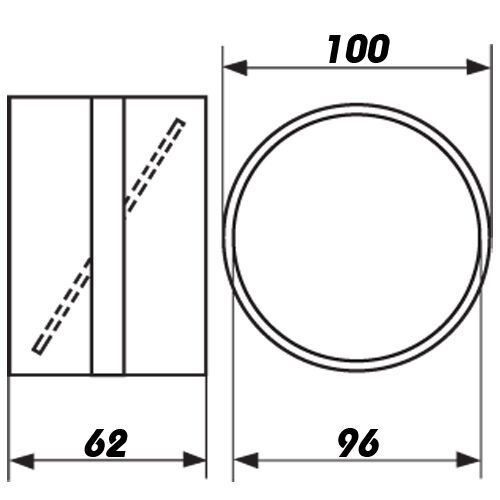 Bindeglied  Rohrverbinder mit Rückschlagklappe für Lüftungsrohr, Abluftrohr