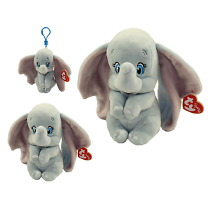 SET of 3 TY Beanie Babies DUMBO Disney Elephant Plush Medium, Reg, Clip MWMTs