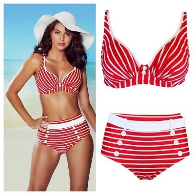 Pour Moi Starboard Underwired Bikini Top 68012 Red//White