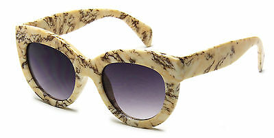 Women Sunglasses Beige Cat Eye Designer Celebrity Retro Fashion Style