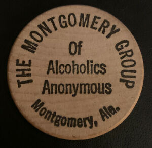 Montgomery-Group-Alcoholics-Anonymous-AA-Alabama-AL-Wooden-Nickel-Token-Coin