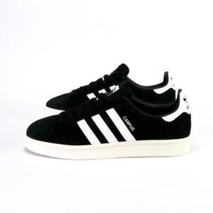 d161c0ba8b4dfb Image is loading Adidas-Campus-Black-White-Suede-Men-039-s-