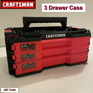 CRAFTSMAN 3 DRAWER TOOL CASE TRAY TOP VERSASTACK EMPTY *TOOLS NOT INCLUDED**