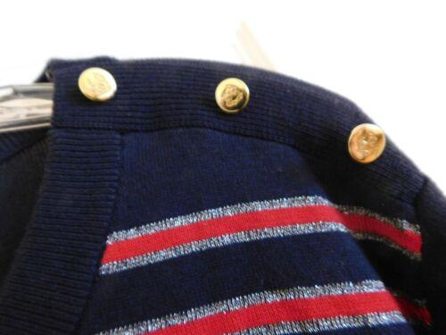 Pull bleu 50 argent pour 3X Talbots Nwt marine 51297107 rouge femmes taille grande 89 à 0Eq4wxB4