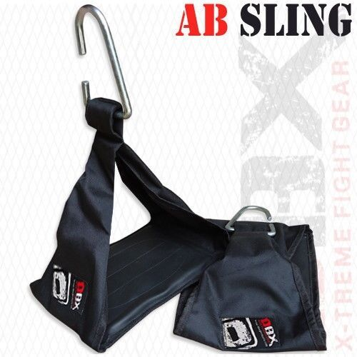 DBX Weight Lifting Ab Sling Pull Up Bar Straps Fitness Exercise Training BLACK
