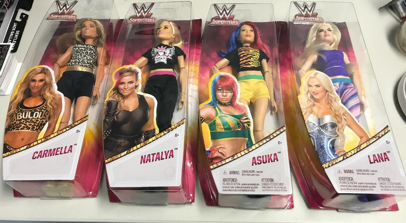 "WWE Superstars 12"" Dolls Lot Of 4 Carmella Natalya Asuka Lana"