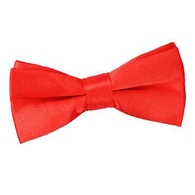 Rispettoso Dqt Raso Plain Solid Rosso Comunione Pagina Ragazzi Pre-legato Bow Tie-