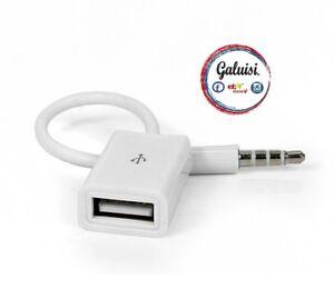 CAVO-AUX-USB-AUX-IN-USCITA-MASCHIO-da-3-5mm-a-USB-2-0-FEMMINA-AUX-IN-CABLE